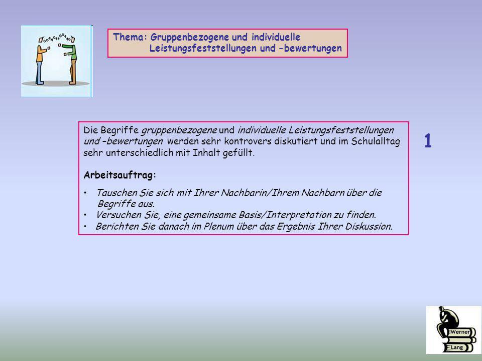 1 Thema: Gruppenbezogene und individuelle