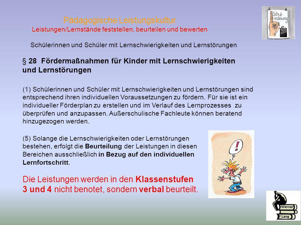 Schülerinnen und Schüler mit Lernschwierigkeiten und Lernstörungen