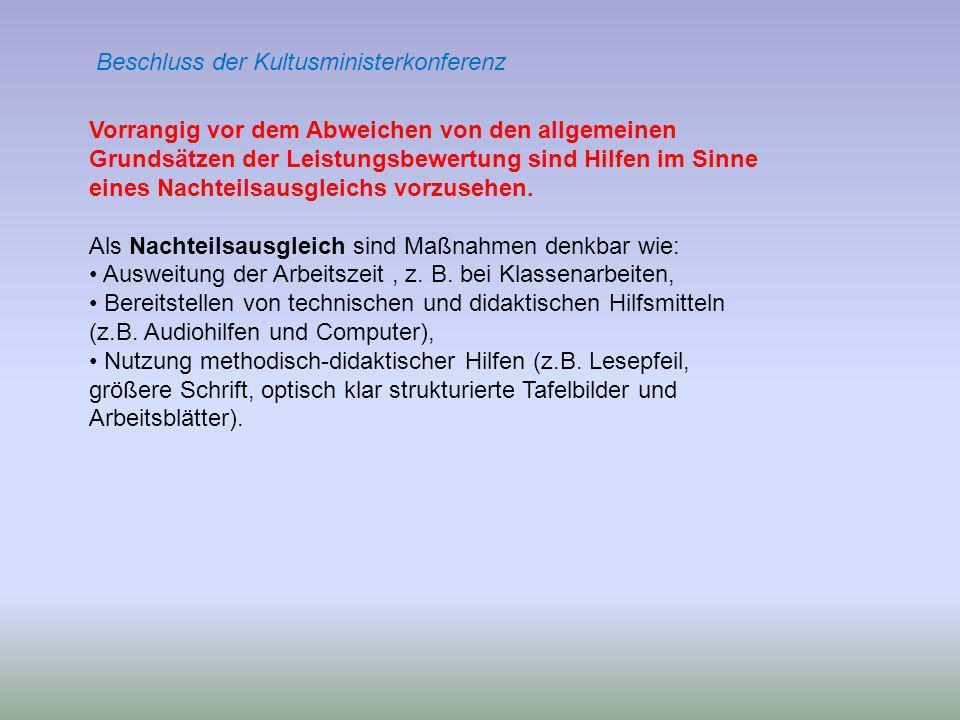 Beschluss der Kultusministerkonferenz