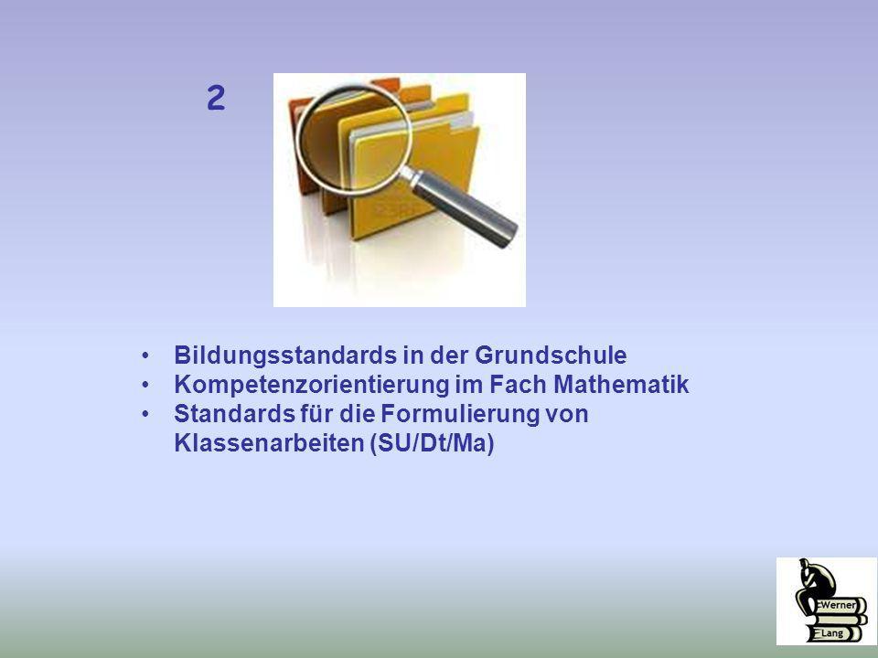 2 Bildungsstandards in der Grundschule