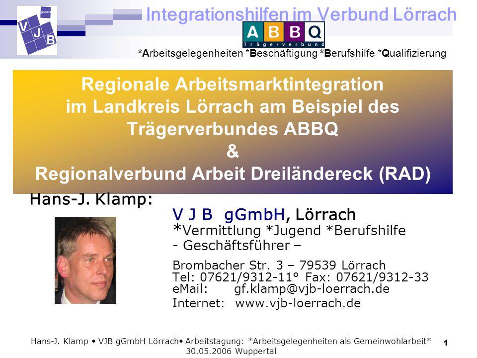 Regionale Arbeitsmarktintegration im Landkreis Lörrach am Beispiel des Trägerverbundes ABBQ & Regionalverbund Arbeit Dreiländereck (RAD)