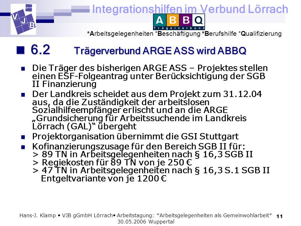 6.2 Trägerverbund ARGE ASS wird ABBQ