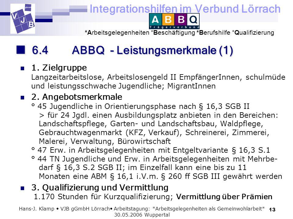 6.4 ABBQ - Leistungsmerkmale (1)