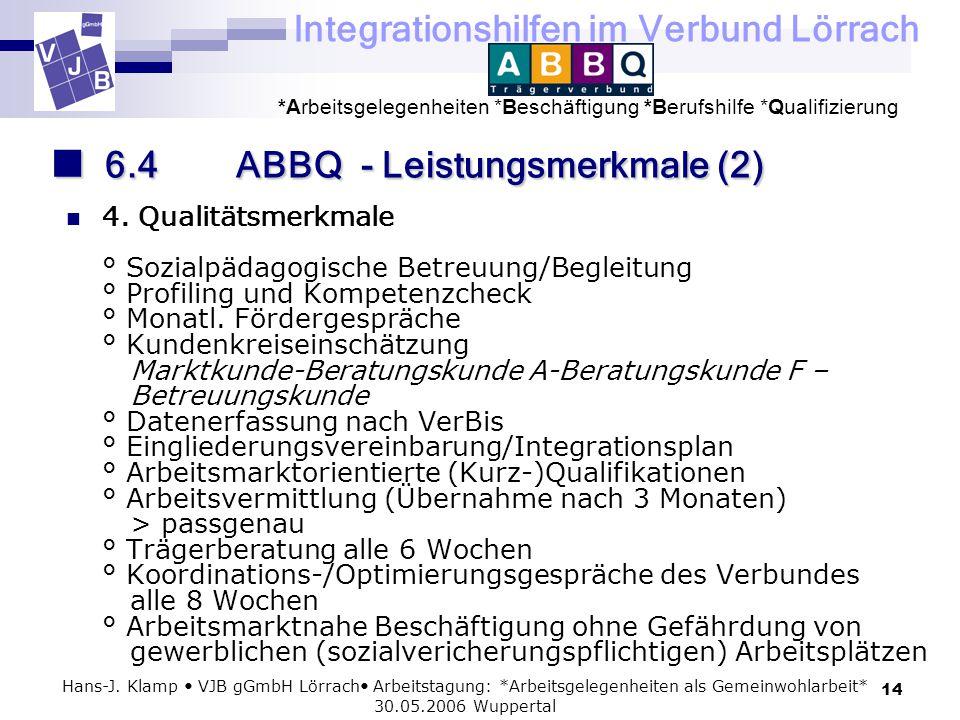 6.4 ABBQ - Leistungsmerkmale (2)