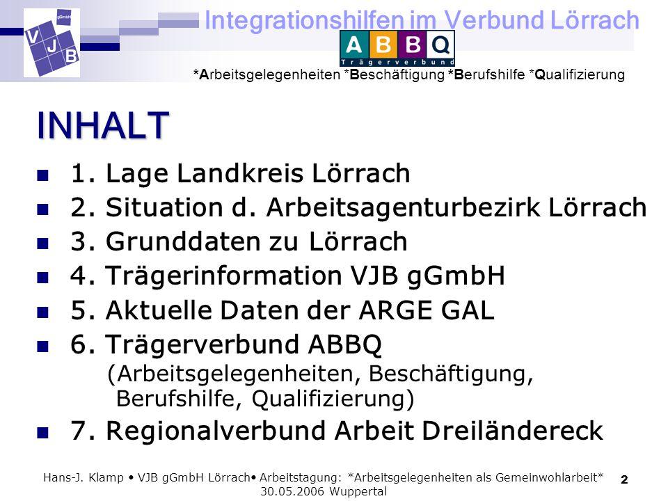 INHALT 1. Lage Landkreis Lörrach