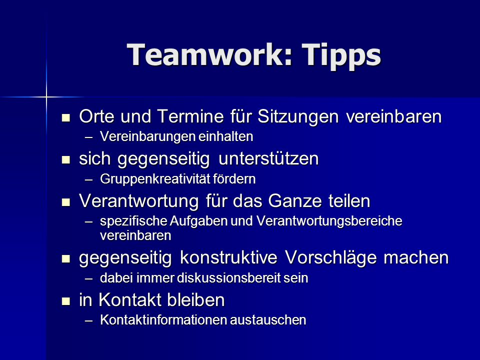 Teamwork: Tipps Orte und Termine für Sitzungen vereinbaren