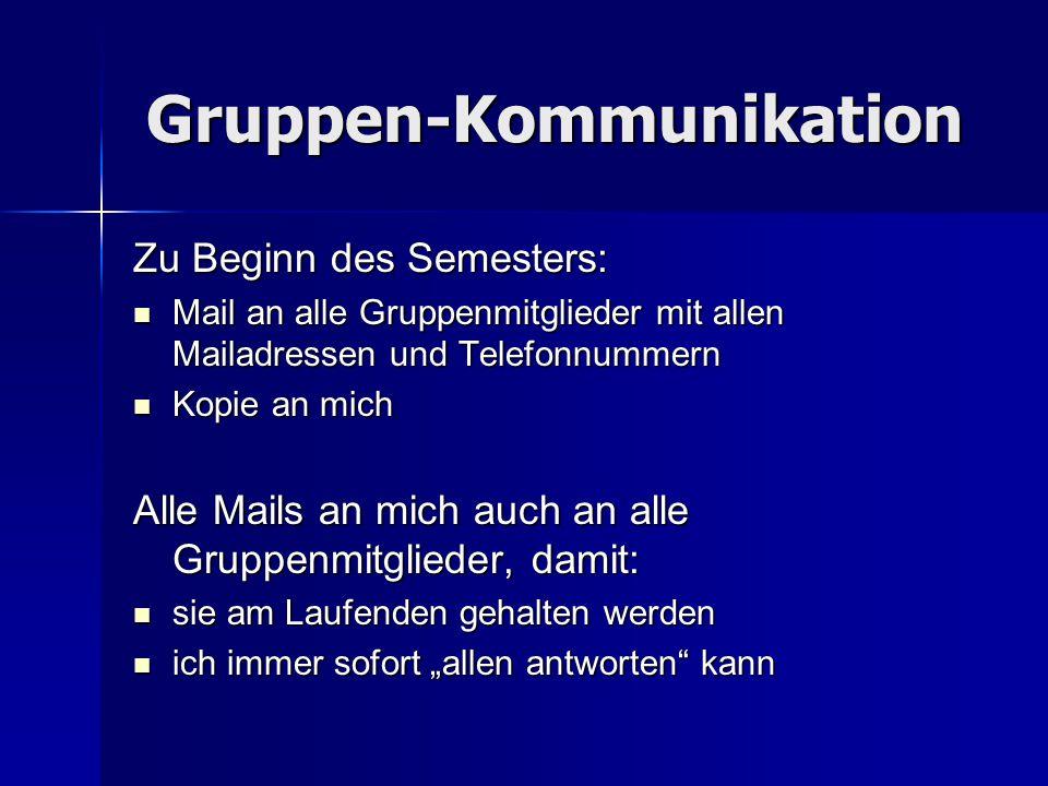 Gruppen-Kommunikation
