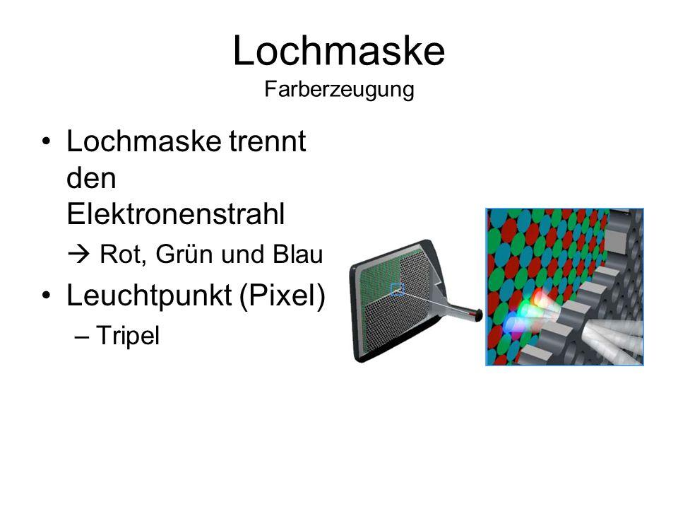 Lochmaske Farberzeugung