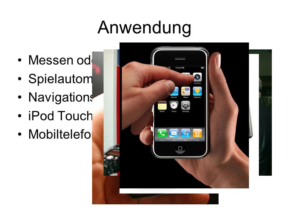 Anwendung Messen oder Bahnhöfen Spielautomaten Navigationssysteme