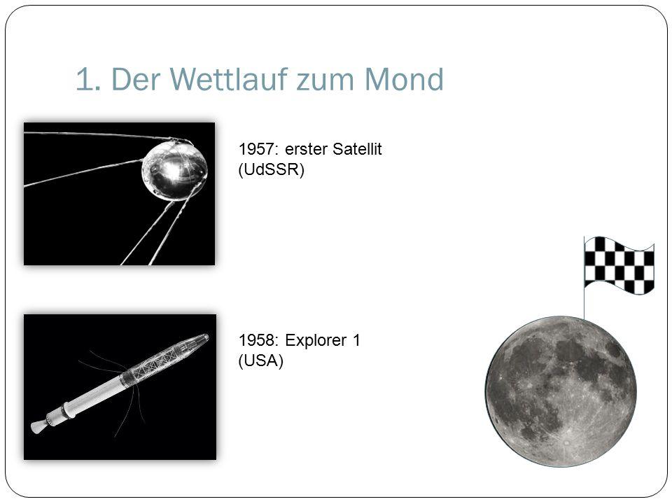 1. Der Wettlauf zum Mond 1957: erster Satellit (UdSSR)