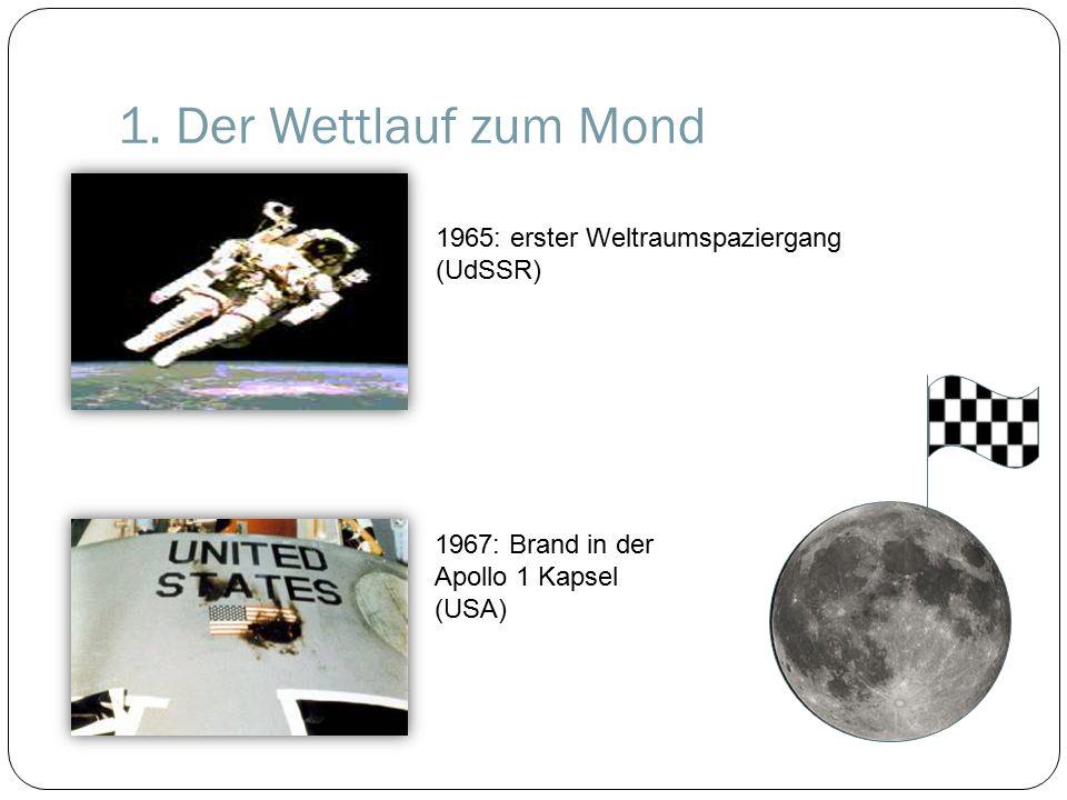 1. Der Wettlauf zum Mond 1965: erster Weltraumspaziergang (UdSSR)