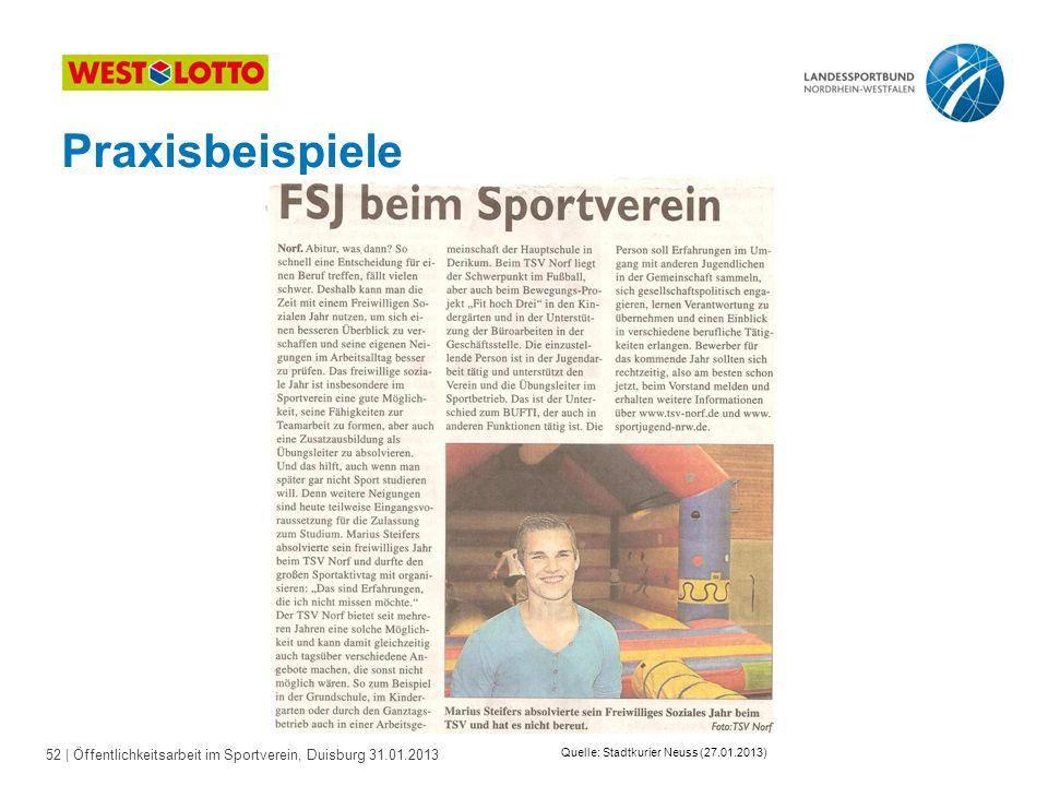 Quelle: Stadtkurier Neuss (27.01.2013)