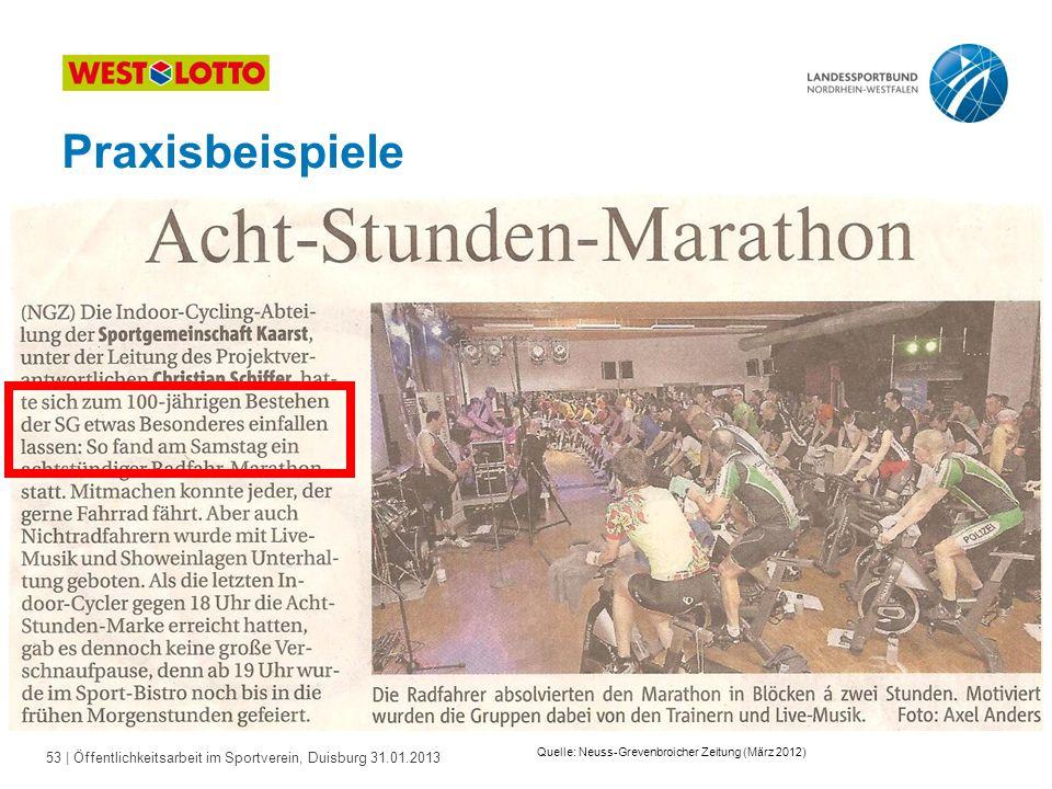 Praxisbeispiele Quelle: Neuss-Grevenbroicher Zeitung (März 2012)