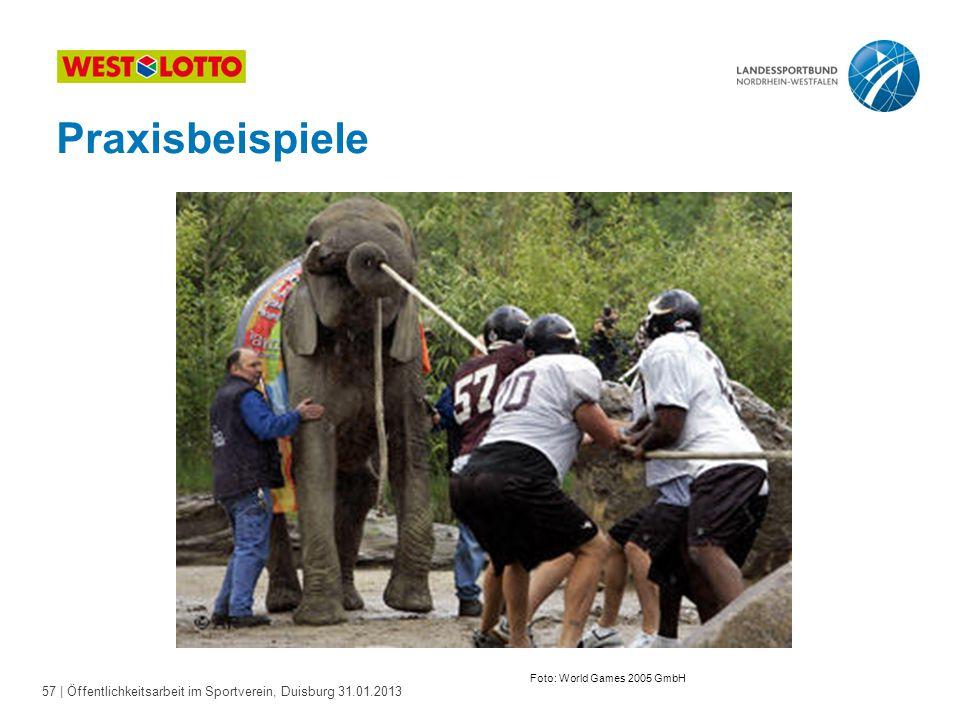 Praxisbeispiele Foto: World Games 2005 GmbH