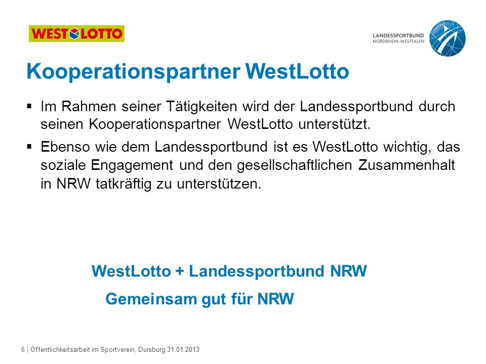 WestLotto + Landessportbund NRW