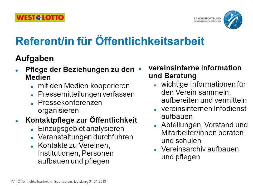 Referent/in für Öffentlichkeitsarbeit