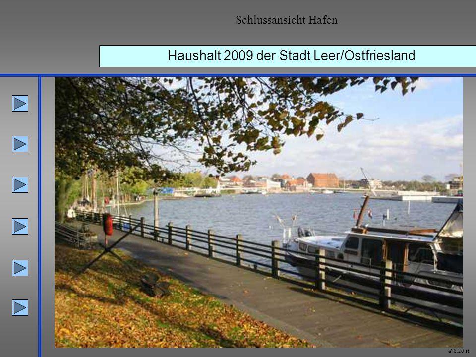 Haushalt 2009 der Stadt Leer/Ostfriesland