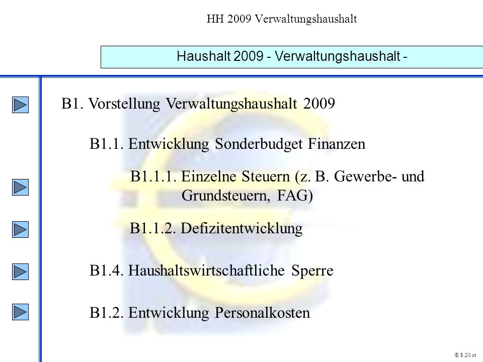 HH 2009 Verwaltungshaushalt