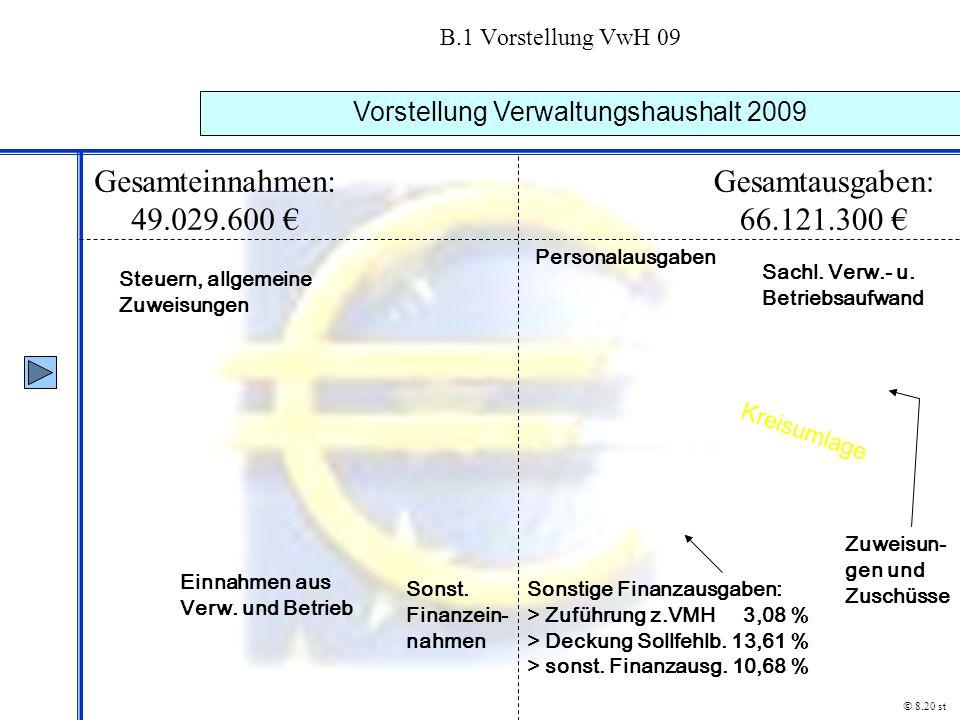 Vorstellung Verwaltungshaushalt 2009