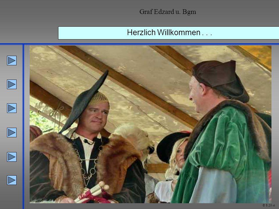 Graf Edzard u. Bgm Herzlich Willkommen . . . © 8.20 st