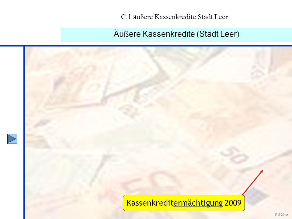 C.1 äußere Kassenkredite Stadt Leer