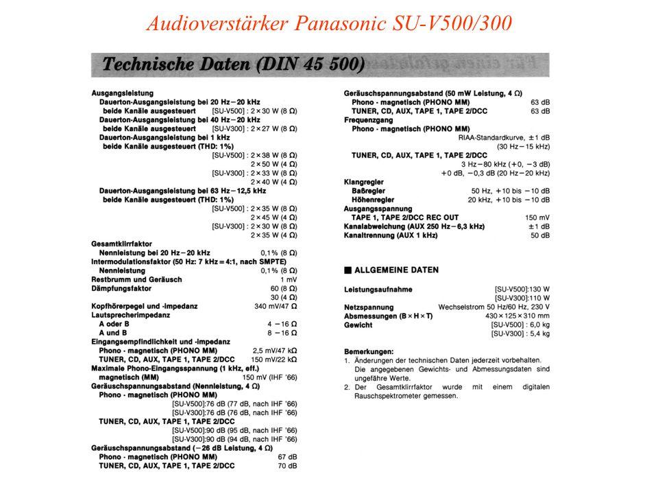 Audioverstärker Panasonic SU-V500/300