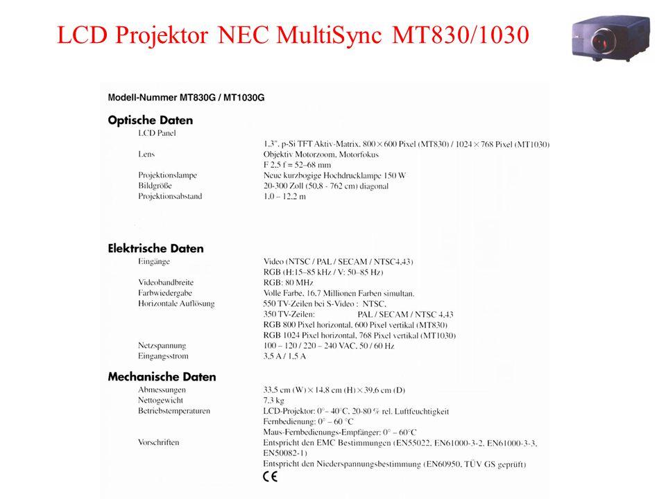 LCD Projektor NEC MultiSync MT830/1030