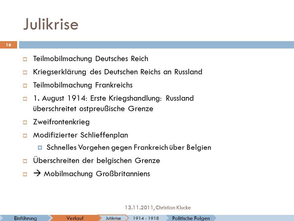 Julikrise Teilmobilmachung Deutsches Reich