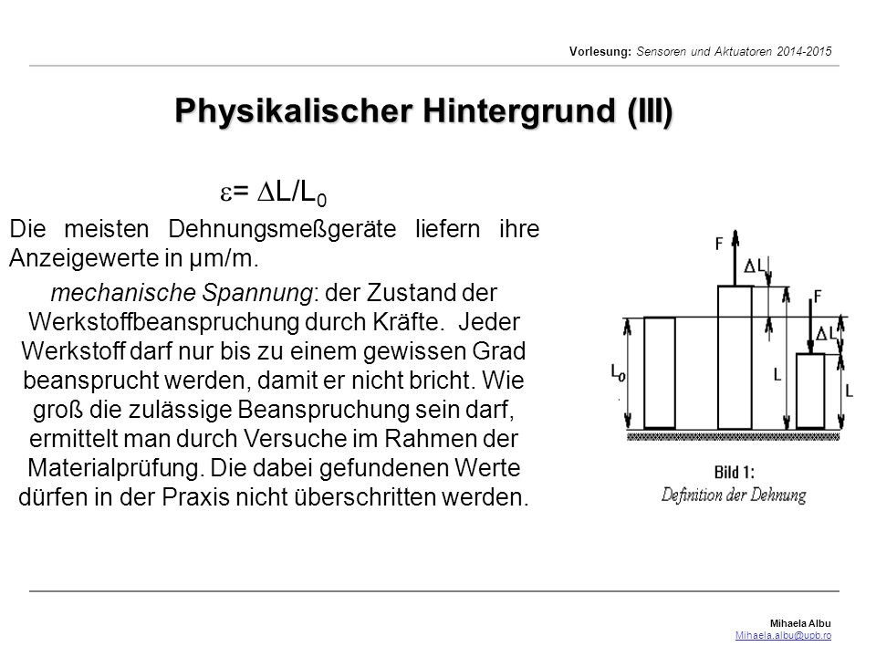Physikalischer Hintergrund (III)