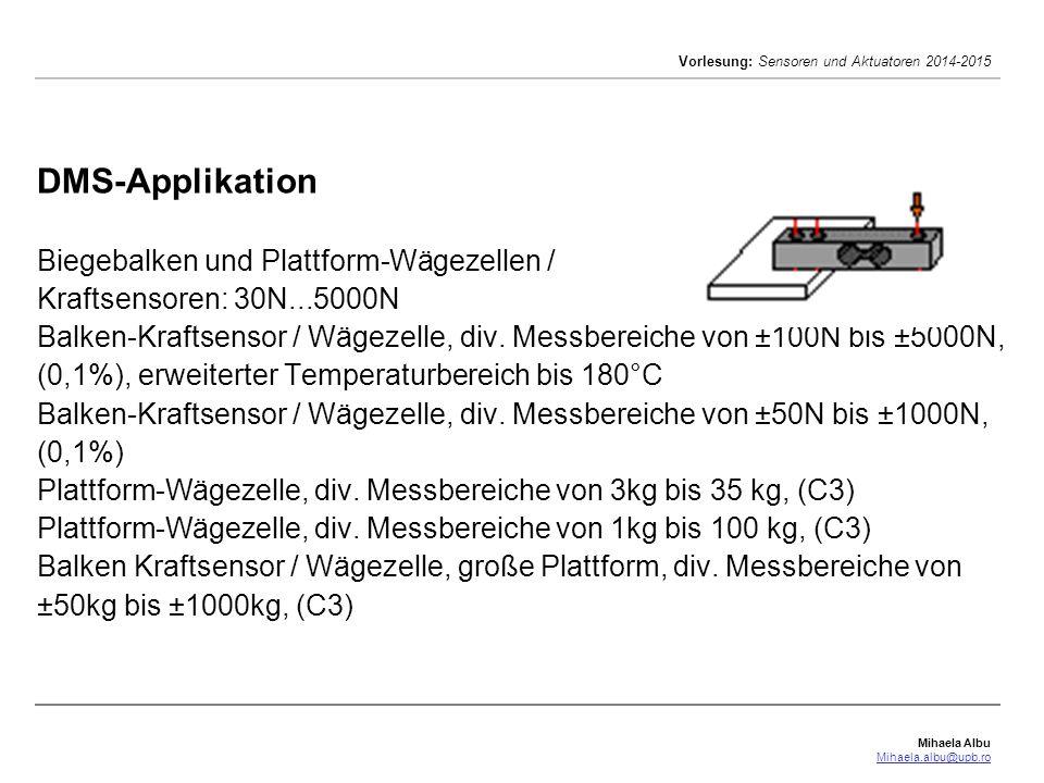 DMS-Applikation Biegebalken und Plattform-Wägezellen / Kraftsensoren: 30N...5000N Balken-Kraftsensor / Wägezelle, div.