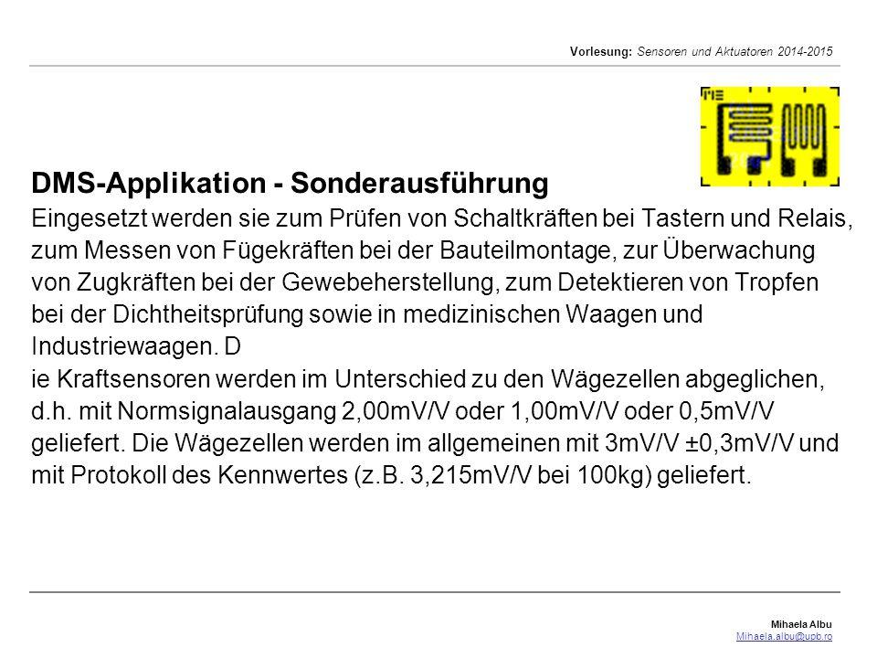 DMS-Applikation - Sonderausführung