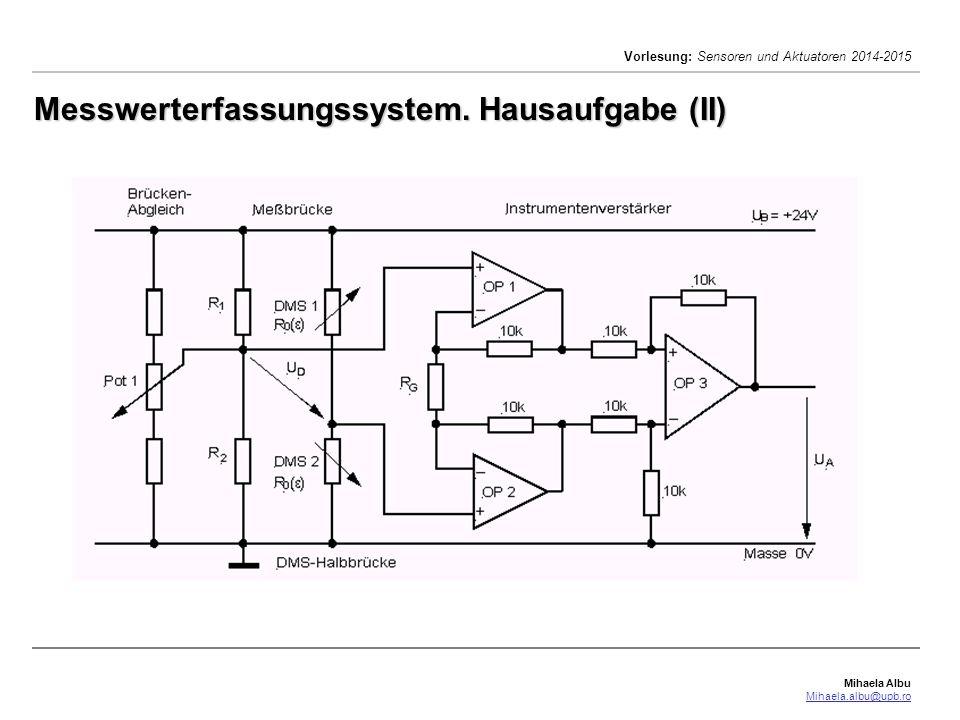 Messwerterfassungssystem. Hausaufgabe (II)