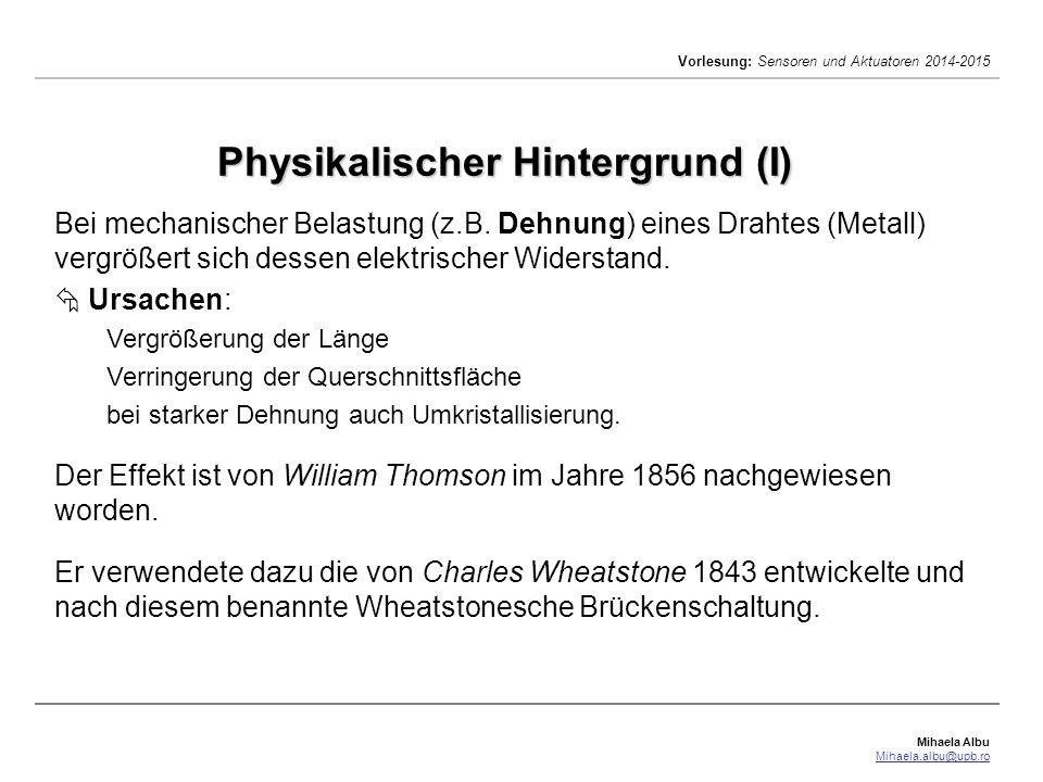 Physikalischer Hintergrund (I)