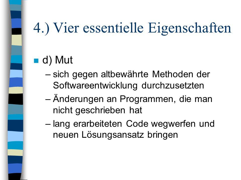 4.) Vier essentielle Eigenschaften