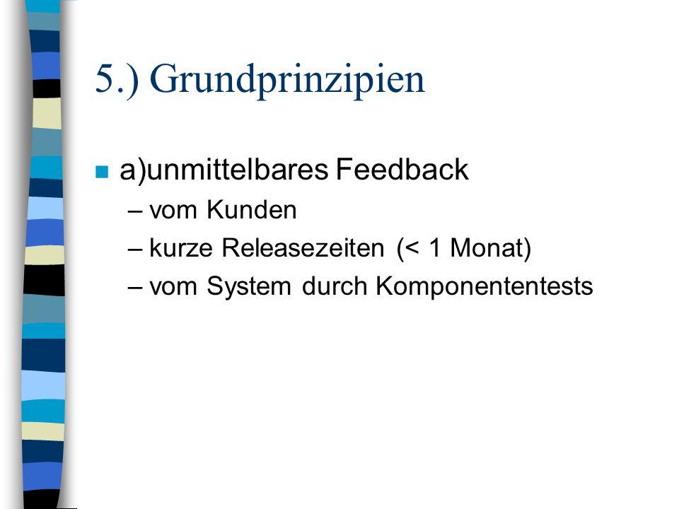 5.) Grundprinzipien a)unmittelbares Feedback vom Kunden