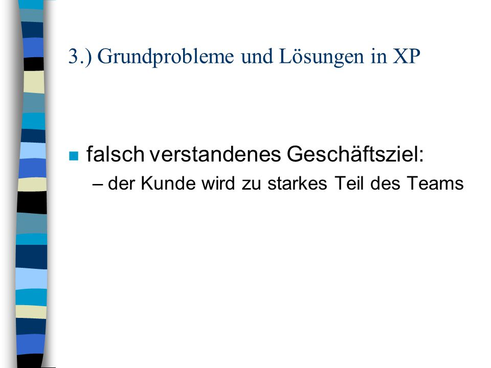 3.) Grundprobleme und Lösungen in XP