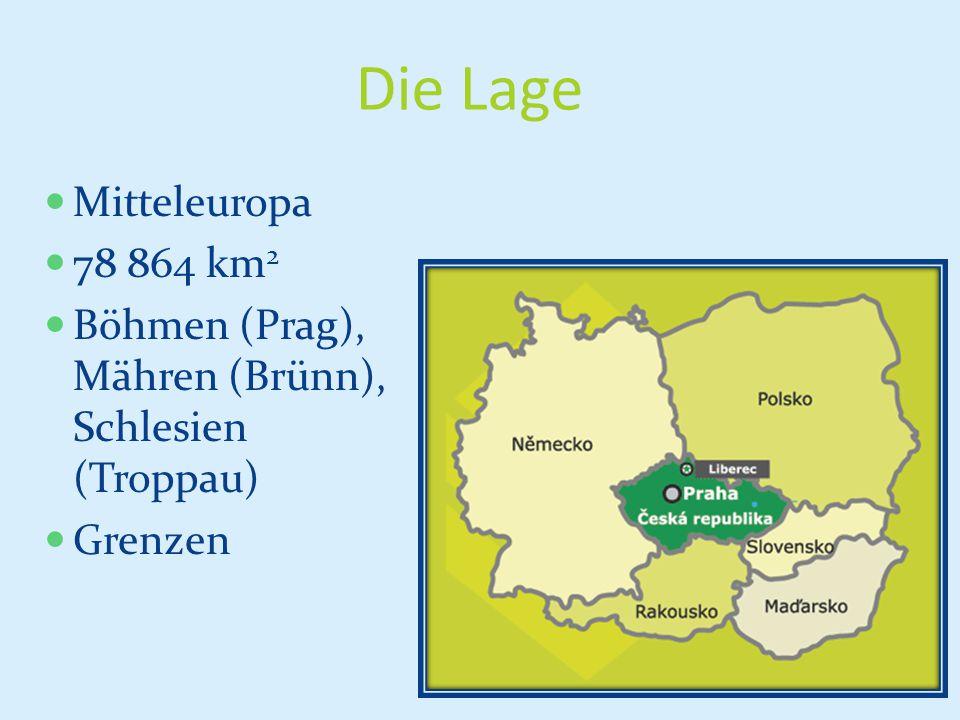 Die Lage Mitteleuropa 78 864 km2