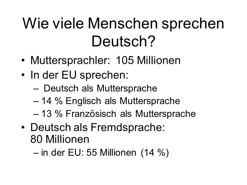Wie viele Menschen sprechen Deutsch