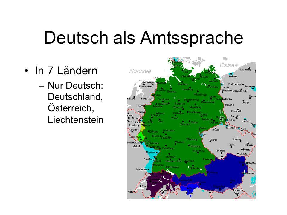 Deutsch als Amtssprache