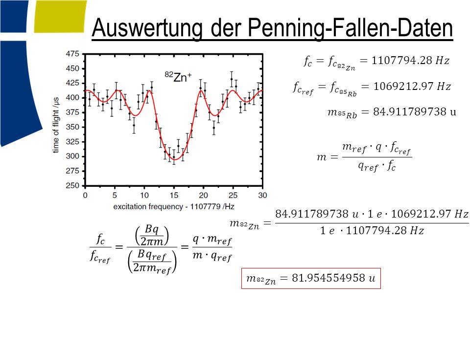 Auswertung der Penning-Fallen-Daten