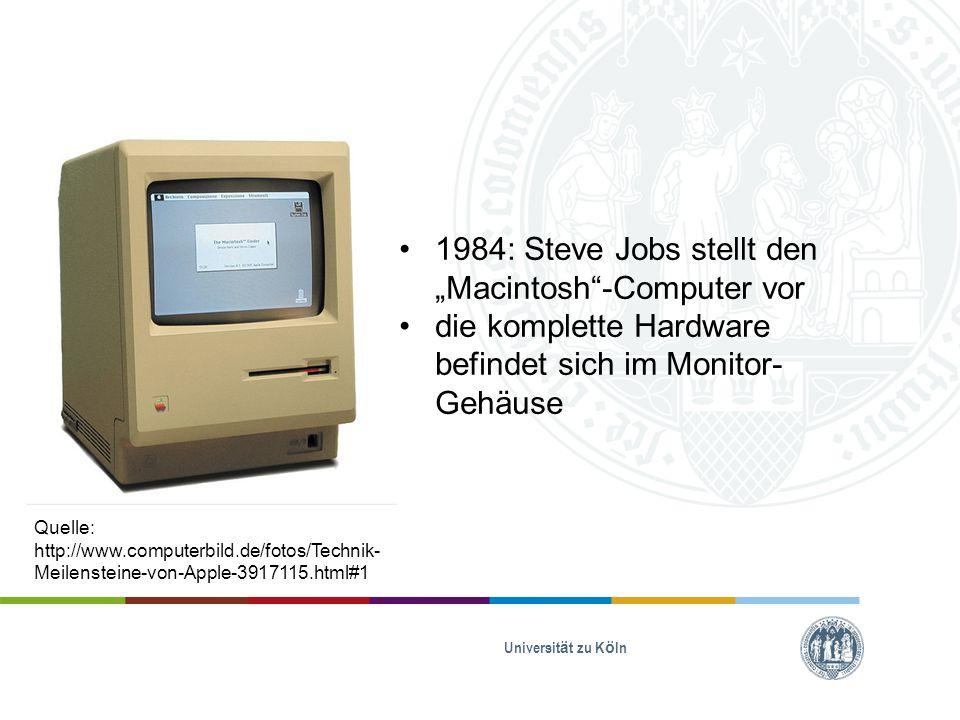 "1984: Steve Jobs stellt den ""Macintosh -Computer vor"