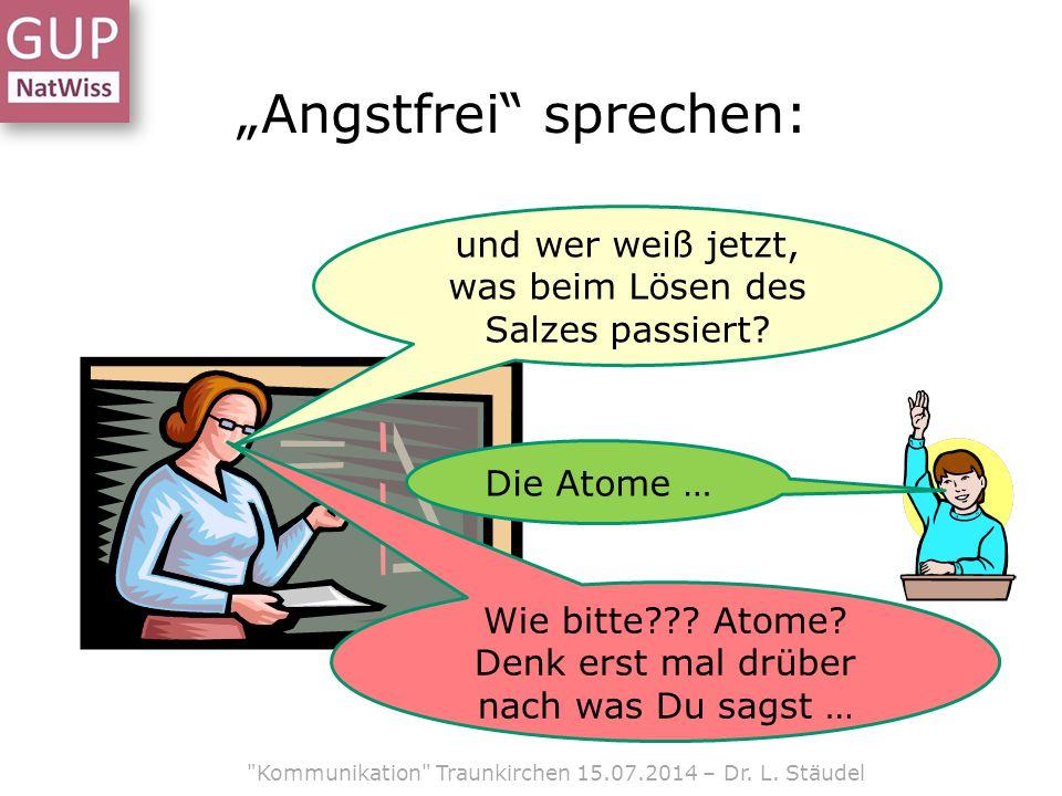 """""""Angstfrei sprechen:"""