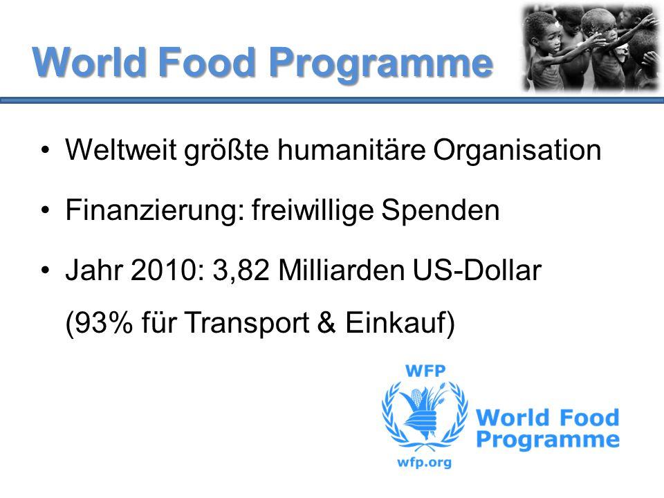 World Food Programme Weltweit größte humanitäre Organisation
