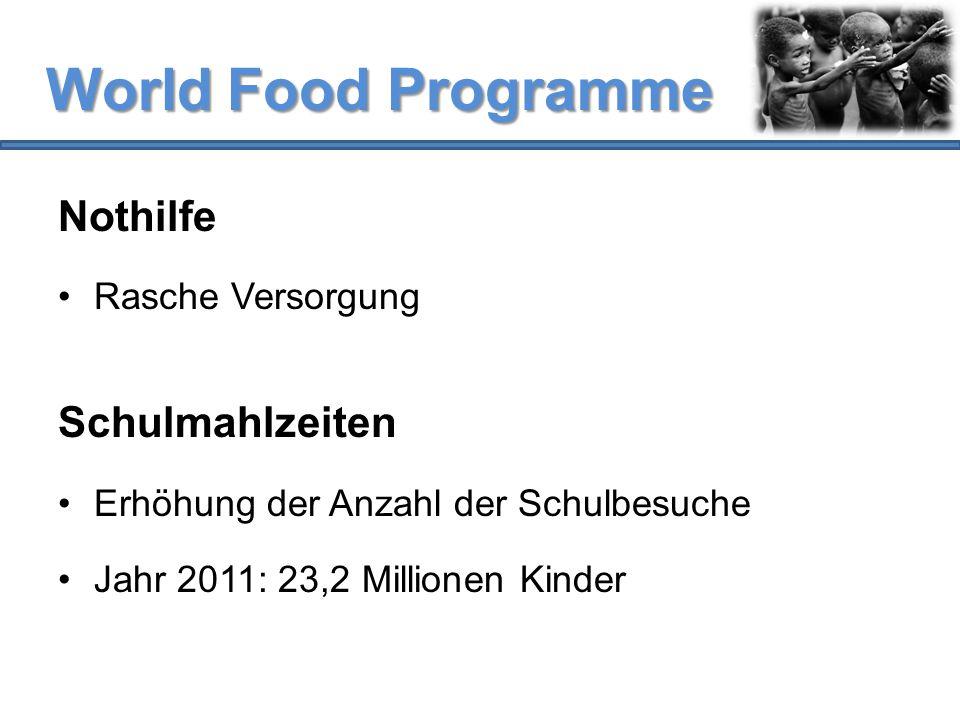 World Food Programme Nothilfe Schulmahlzeiten Rasche Versorgung