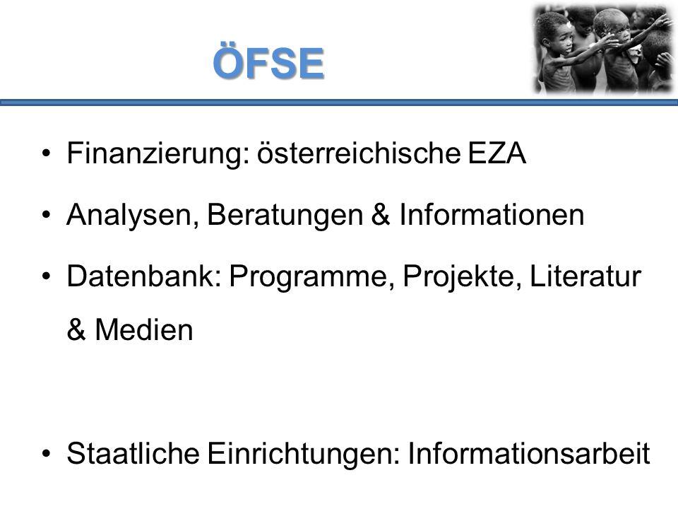 ÖFSE Finanzierung: österreichische EZA