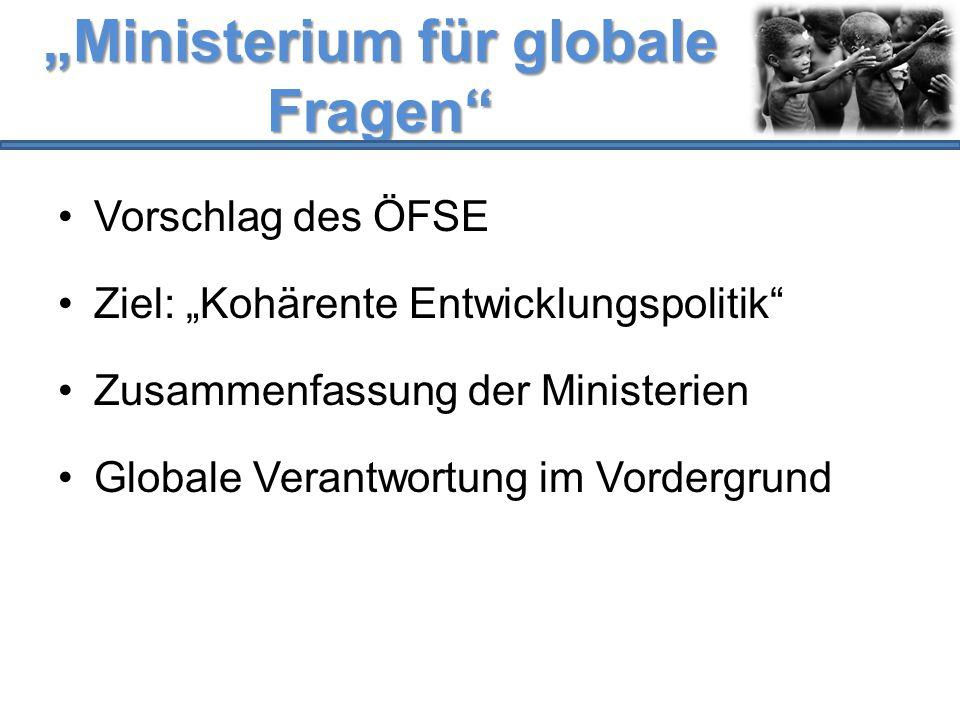 """""""Ministerium für globale Fragen"""
