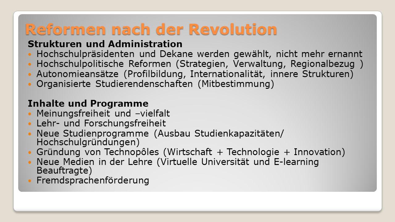 Reformen nach der Revolution