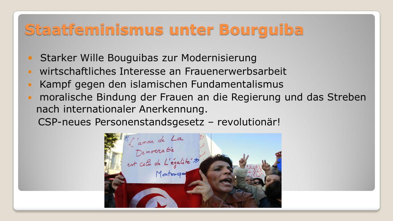 Staatfeminismus unter Bourguiba