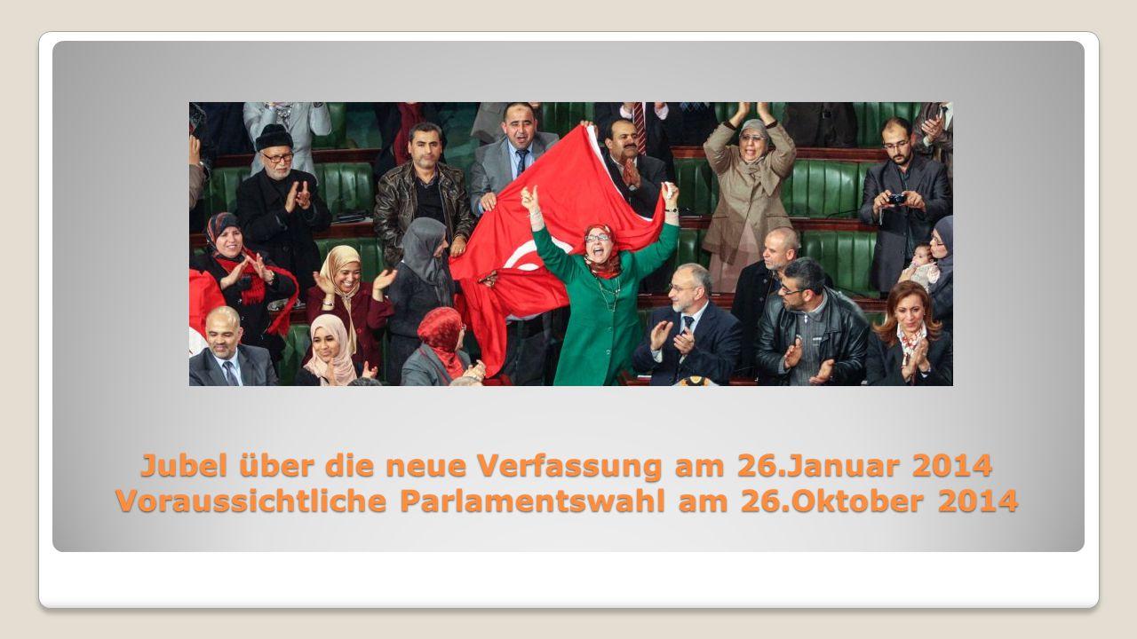 Jubel über die neue Verfassung am 26