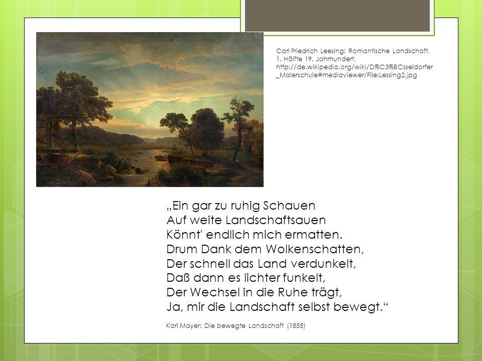 Carl Friedrich Leesing: Romantische Landschaft, 1. Hälfte 19